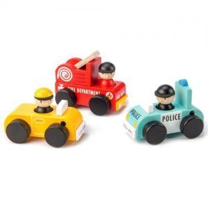 Tender Leaf Toys Träbilar 3 st Räddningstjänst