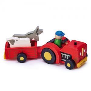 Tender Leaf Toys Traktor Och Släp
