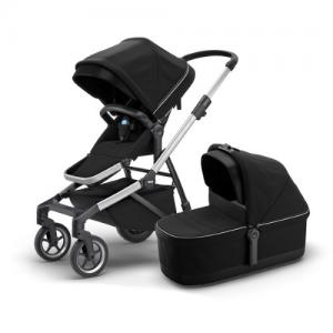 Thule Sleek Midnight Black Barnvagn med liggdel & sittdel