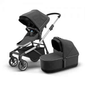 Thule Sleek Shadow Grey Stroller with Seat & Bassinet