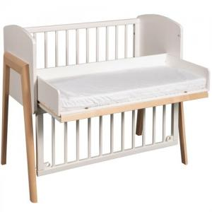 Troll Furniture Come To Me Bedside Crib White/Nature