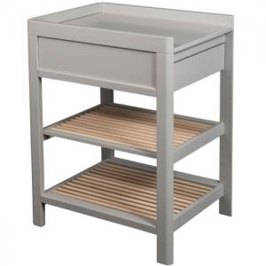Troll Furniture Lukas Changing Table With Drawer And Shelf Gray/Nature