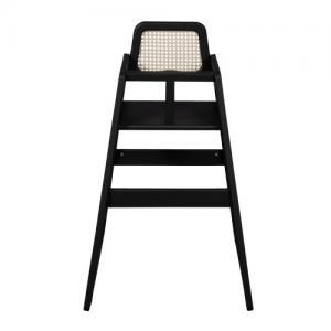 Troll Furniture Marita Baby Chair Rattan Black Glazed Wood