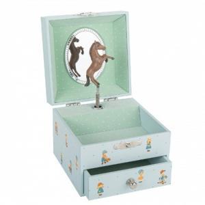 Trousselier Music Box Jewelry Storage Jeanne Lagarde Blue