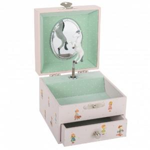 Trousselier Music Box Jewelry Storage Jeanne Lagarde Pink