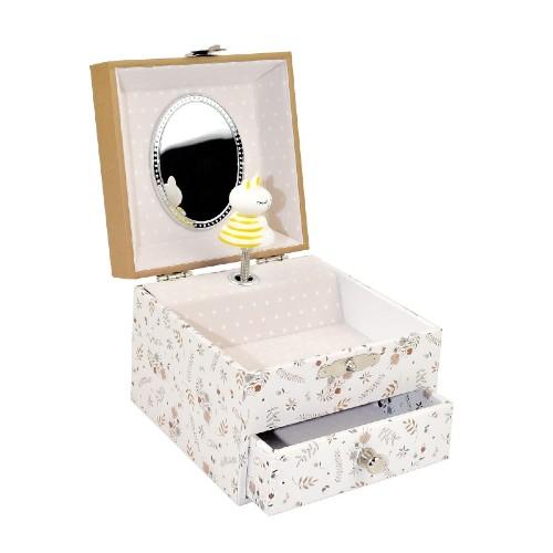 Trousselier Music Box Jewelry Storage Squrrel in Meadow