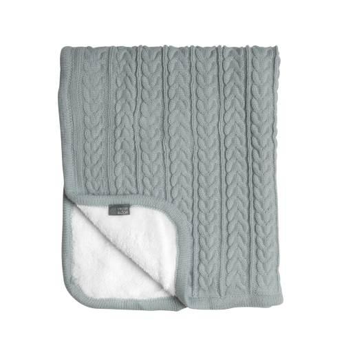 Vinter & Bloom Filt Mintgrön Stickad med fleecefoder (Cuddly Sage Green)