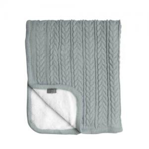 Vinter & Bloom Filt Mintgrön Stickad med fleecefoder (Cuddly Sage Green)