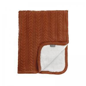 Vinter & Bloom Filt Terracotta Stickad med fleecefoder (Cuddly Pecan Pie)