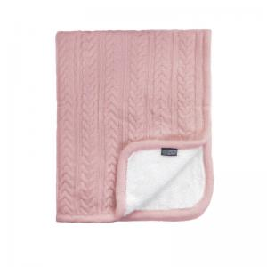 Vinter & Bloom Filt Rosa Stickad med fleecefoder (Cuddly Dusty Rose)