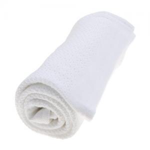 Vinter & Bloom Blanket Soft Grid Bright White 100 % ECO Cotton.