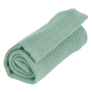 Vinter & Bloom Blanket Soft Grid Sage Green 100 % ECO Cotton