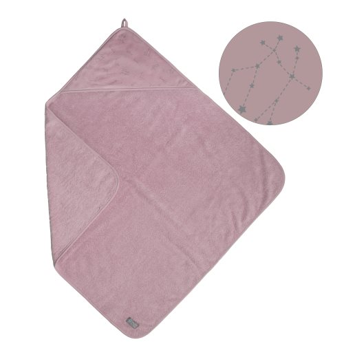 Vinter & Bloom Northern Lights Hooded Towel Stella Pink