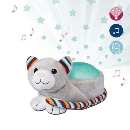 Zazu Stuffed Star Projector Nightlight & Melodies Kiki Kitten