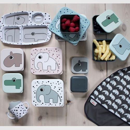 Pink /10563/Dish with Compartments with Design Happy Dots Done By Deer/