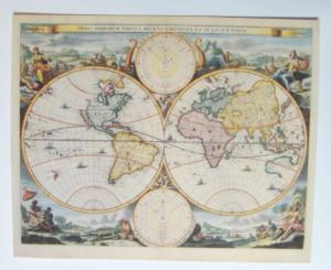 Världskarta - antik