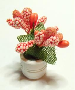 Blomma i kruka - orange