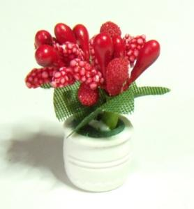 Blomma i kruka - röd