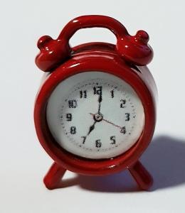 Klocka - bordsur - röd