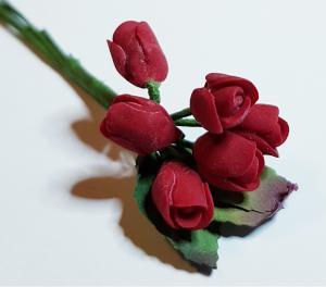 Blombukett - röd