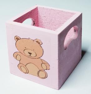 Förvaringslåda - rosa