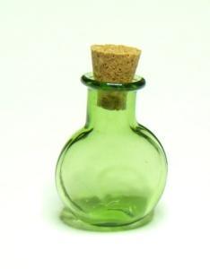 Glasflaska - grön