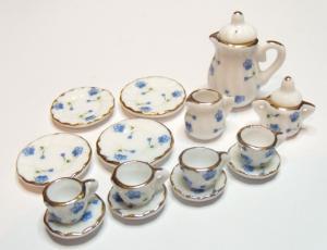 Kaffeservis - Blue flower