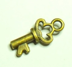Nyckel - antikfärgad
