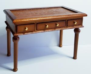 Skrivbord - Ludvig XVI - mahogny