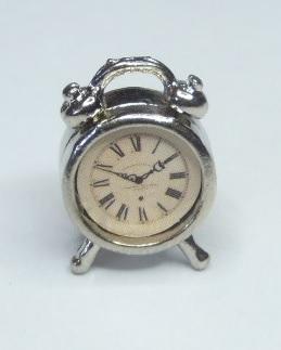 Bordsur/klocka - silver