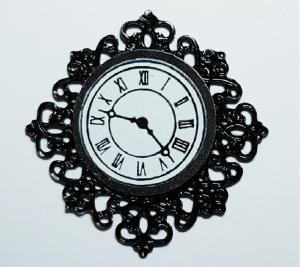 Klocka - svart