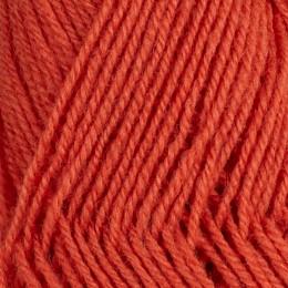 Korallröd 157 - 3tr Strikkegarn 50g
