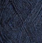 Blå mörkmelerad 4124 - finullgarn 50g