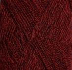 Dämpad röd mörkmelerad 4131 - finullgarn 50g