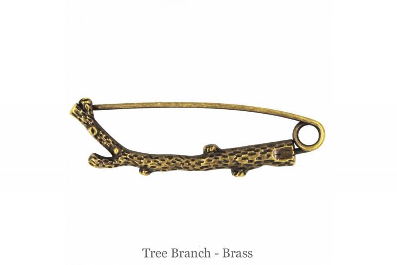 Sjalnål gren brons