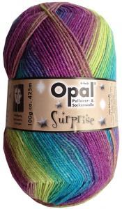 Blå regnbåge - Opal surprise sockgarn 100g