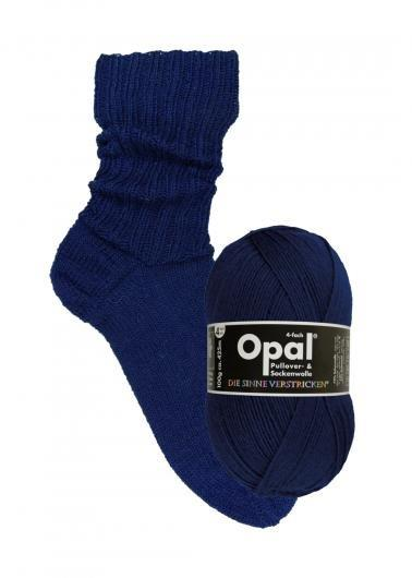 Marinblå 9930 - Opal sockgarn 100g