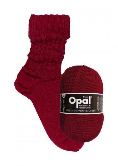 Rubinröd 9939 - Opal sockgarn 100g