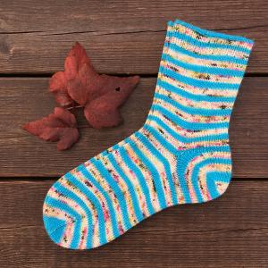 Cloettes sockor med istickshäl - mönsterblad