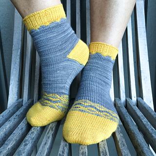 Rustika Sol Angelica sockor - mönsterblad
