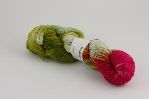 Hallonbuske - sockgarn glitter 100g