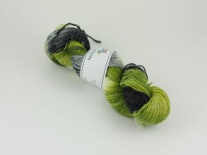 Björk - handfärgat sockgarn ull/bomull 100g