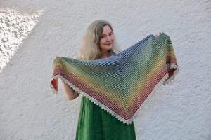 Skymning sjal - mönsterblad