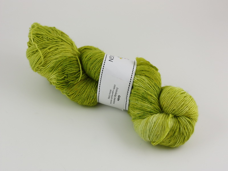Grön - entrådig merino 100g