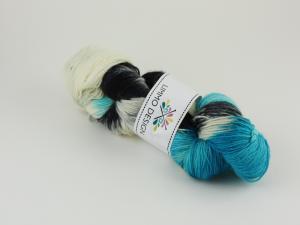 Frost - handfärgat sockgarn 100g