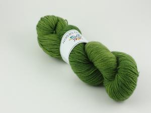En mörkare grön - sockgarn 100g