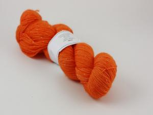 Orange - sockgarn glitter 100g