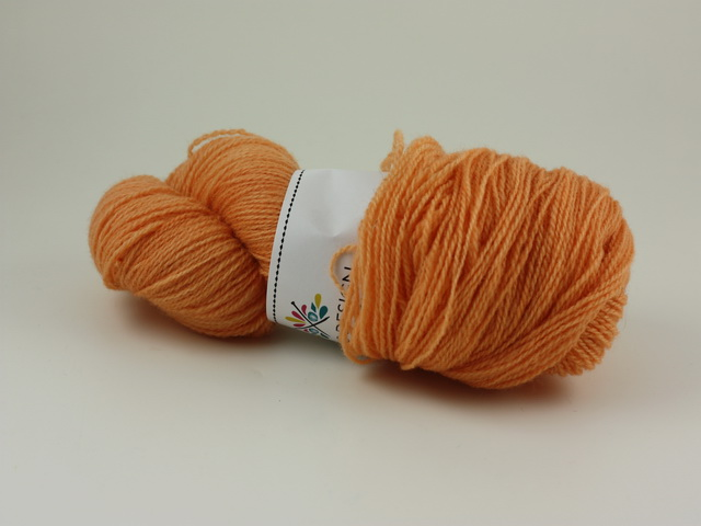 Orange á la Ulrika - Norsk lammull 100g