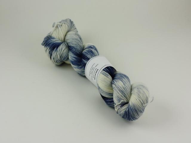 Blått porslin - merino sock 100g