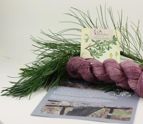 Sjalen Rustique - garnkit plommon
